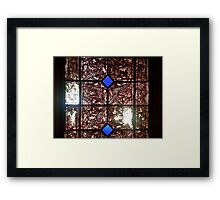 Stained glass in historical building Framed Print