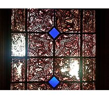 Stained glass in historical building Photographic Print