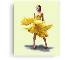 Taylor's flowy dress  Canvas Print