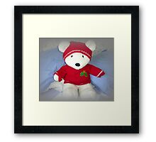 He is so cuddly, Bertie Bear Framed Print