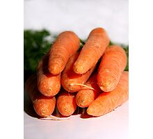 Carrot Bunch Photographic Print