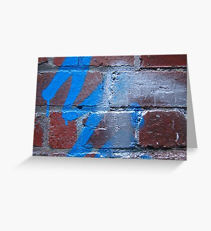 Paint on the Wall Greeting Card