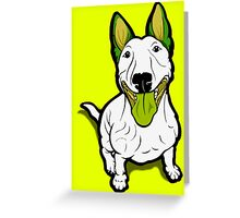 Lola Lugs Bull Terrier  Greeting Card
