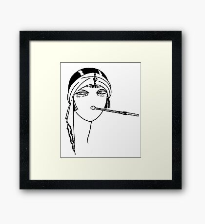 Queen of the Flappers Framed Print
