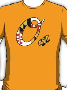 """O"" Maryland Flag T-Shirt"