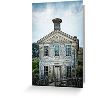 The School House Of Bannack Greeting Card