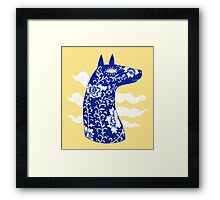 The Water Horse in Blue and White Framed Print
