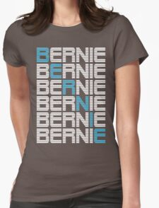 BERNIE sanders textual stack Womens Fitted T-Shirt