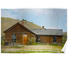 Deserted Town Cabin Poster