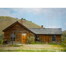 Deserted Town Cabin Photographic Print