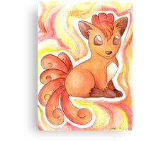 watercolor vulpix Canvas Print
