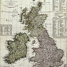 Antique Map of the British Isles by robotplunger