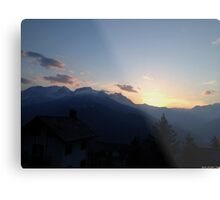 Spring sunset in the Alps Metal Print