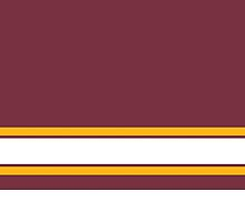 Red & Yellow Stripe Design by canossagraphics