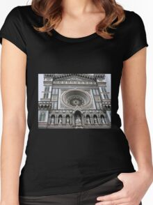 Facade of the Duomo - Florence Women's Fitted Scoop T-Shirt