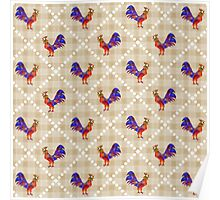 Rooster Pattern Poster