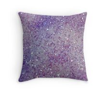 Purple Pretty Glitter Throw Pillow