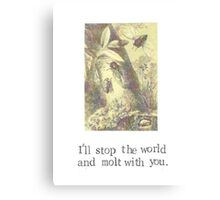 I'll Stop The World And Molt With You Canvas Print