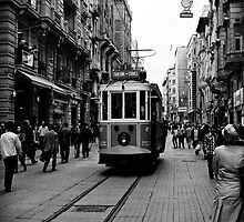 Old tram of Istiklal Caddesi by Lidia D'Opera