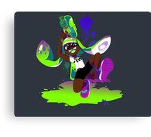 Splatoon Inkling (Green) Canvas Print