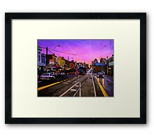 Bridge Road Sunset-Melbourne Framed Print