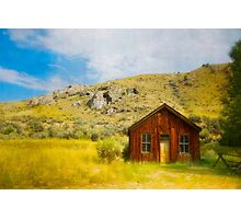 Cabin Against The Hill For Protection Photographic Print