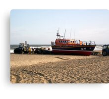 'Lincolnshire Poacher' & Recovery Team - Skegness Canvas Print