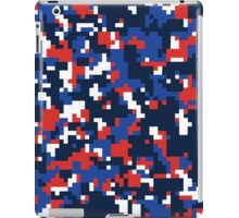 Blue & Red Camo Design iPad Case/Skin
