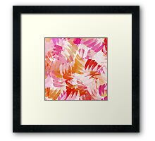 Abstract Paint Pattern Framed Print