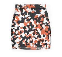 Orange & Black Camo Design #2 Mini Skirt
