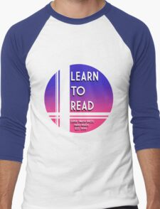 Learn to Read -Falcon Men's Baseball ¾ T-Shirt