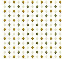Green And Gold Diamond Pattern Photographic Print