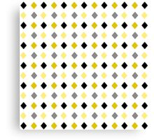 Black and Gold Pattern Canvas Print