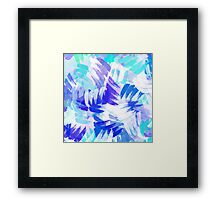 Blue Abstract Paint Pattern Framed Print