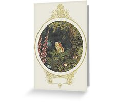 Till on a green fern's nodding crest Greeting Card