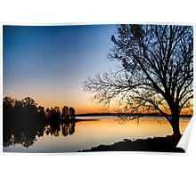 Lake Hartwell Silhouette Poster