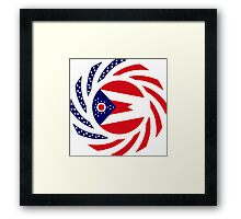 Ohio Murican Patriot Flag Series Framed Print