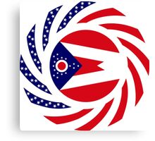 Ohio Murican Patriot Flag Series Canvas Print