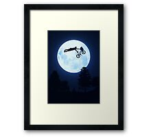Riding the Kuwahara BMX. Like A Boss! Framed Print