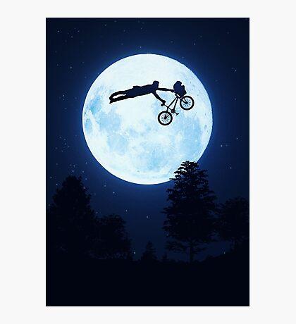 Riding the Kuwahara BMX. Like A Boss! Photographic Print