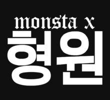 Monsta X Hyungwon Name/Logo 2 by PaolaAzeneth