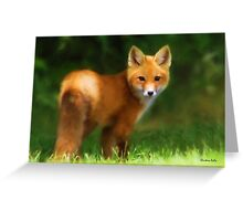 Fiery Fox Greeting Card