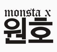 Monsta X Wonho Name/Logo One Piece - Short Sleeve