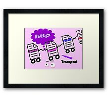 Text Transport Protokoll Framed Print