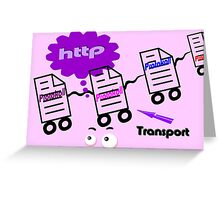Text Transport Protokoll Greeting Card