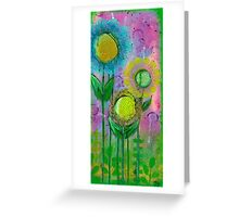 Doily Flowers Greeting Card
