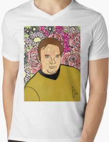 Kirk Bouquet Mens V-Neck T-Shirt