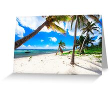 Palm Trees on Breakers Beach Greeting Card
