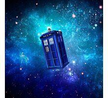 Tardis Blue Space Nebula Photographic Print