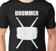 Drummer White Unisex T-Shirt